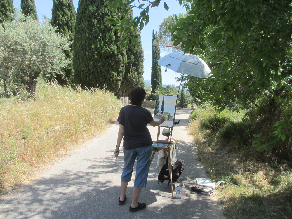 Susan demo, Provence landscape workshop