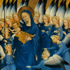 The Wilton Diptych (detail), 1395
