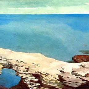 """Homer, """"Natural Bridge, Bermuda"""" (detail), 1901"""