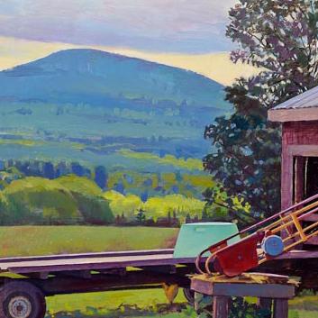 "Susan Abbott, ""Barn Yard, Cloudy Morning"" (detail) 2011"