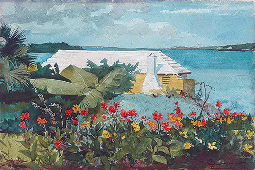 "Winslow Homer, ""Flower garden and Bungalow, Bermuda"", 1899"