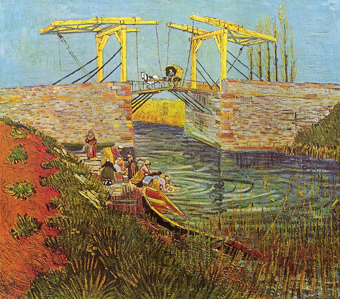 """Van Gogh, """"The Langois Bridge at Arles"""", oil, 1888"""