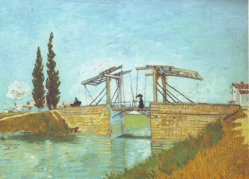 """Van Gogh, """"The Langois bridge at Arles with Road alongside the Canal"""", oil, 1888"""