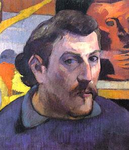"""Gauguin, """"Self Portrait"""" (detail)"""