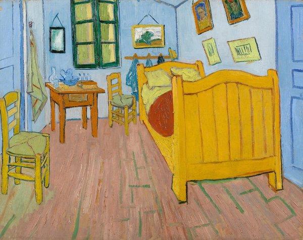 "Van Gogh, ""Vincent's Bedroom in Arles"", 1889 (actual colors)"