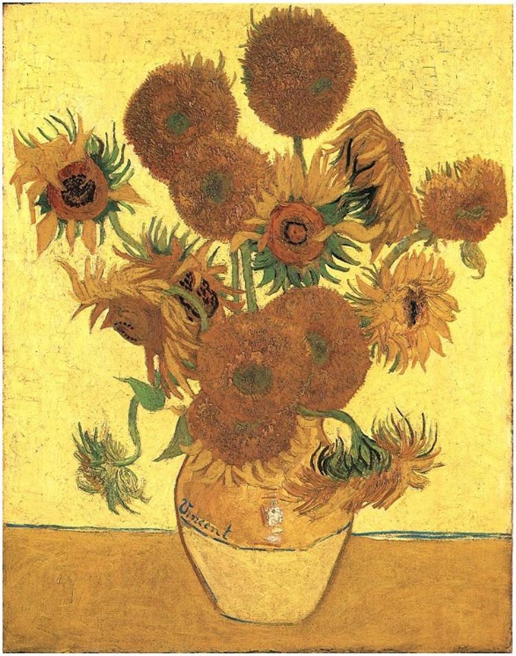 """Van Gogh, """"Vase with Fifteen Sunflowers"""""""