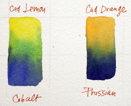 Wet-in-wet watercolor mixes