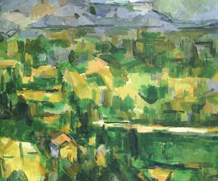 """Cezanne, """"La Montagne St. Victoire"""" (detail), 1887"""