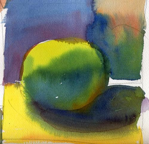"Susan Abbott, ""Color Study"", watercolor"