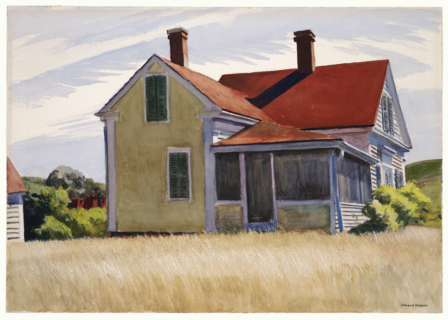 "Edward Hopper, ""Amon Carter House"", watercolor"