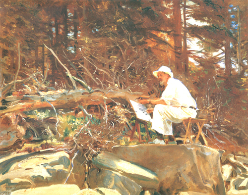 John Singer Sargent painting of another plein air painter