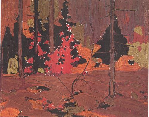 """""""Autumn, Algonquin Park"""", 8"""" x 10"""", oil on wood panel"""