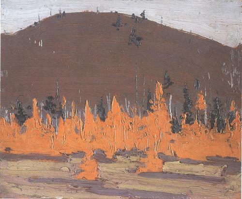 """Tamarack"". 8"" x 10"", oil on wooden panel"