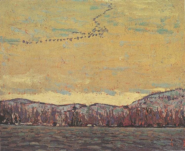 """Wild Geese"", 8"" x 10"", oil on wood panel"