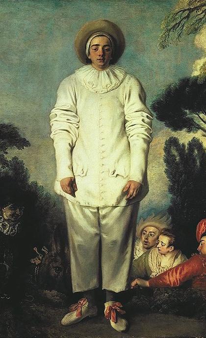 """Jean-Antoine Watteau, """"Pierrot"""" (detail)"""