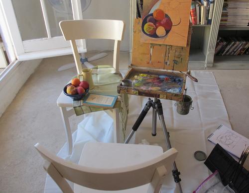 My travel studio in Provence