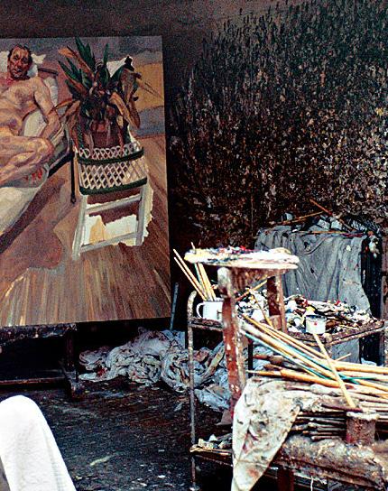 Lucien Freud's studio