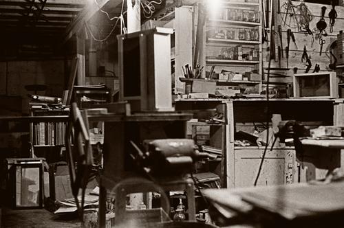 Joseph Cornell's studio
