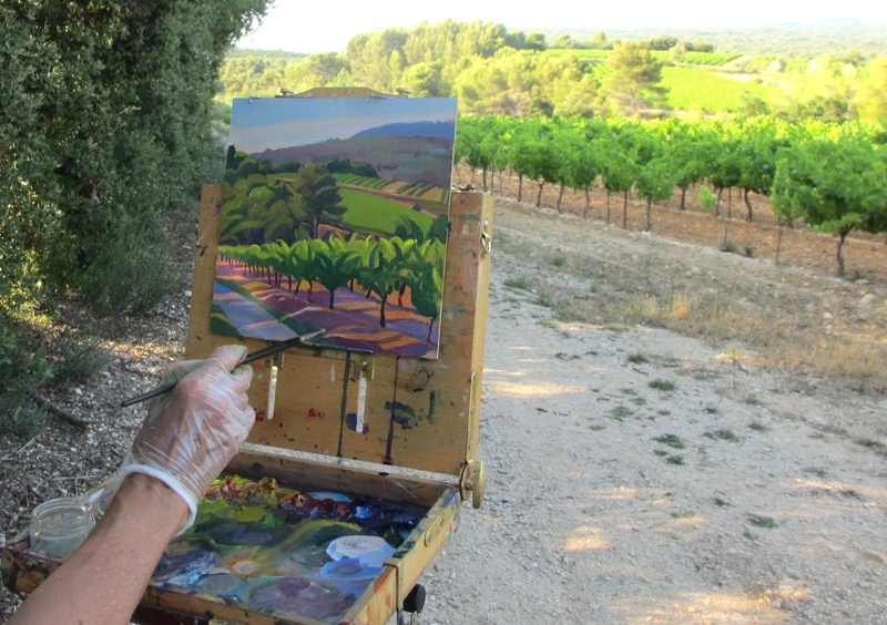 Painting near Les Bassacs, Provence