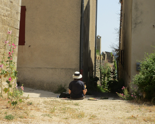 Painting in Viens, Provence