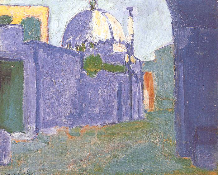 "Matisse, ""The Marabout, Tunisia"", oil on linen"