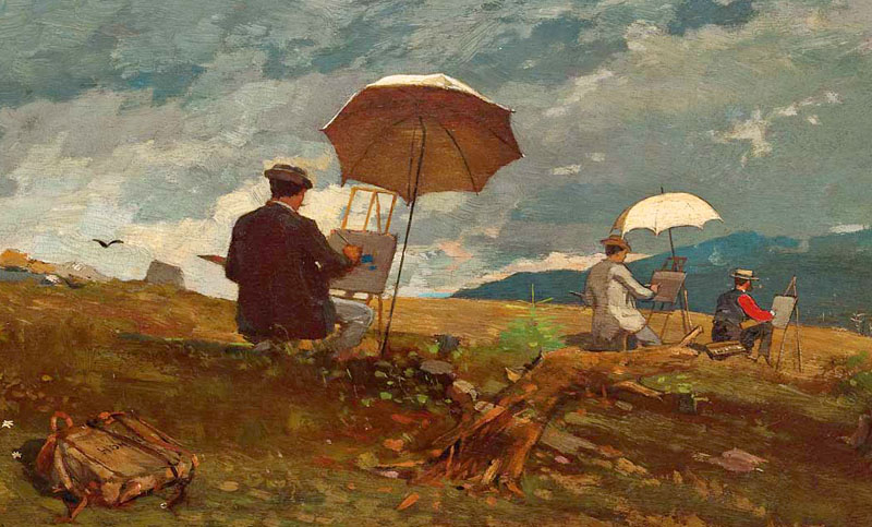 "Winslow Homer, ""Artists Sketching"" (detail)"