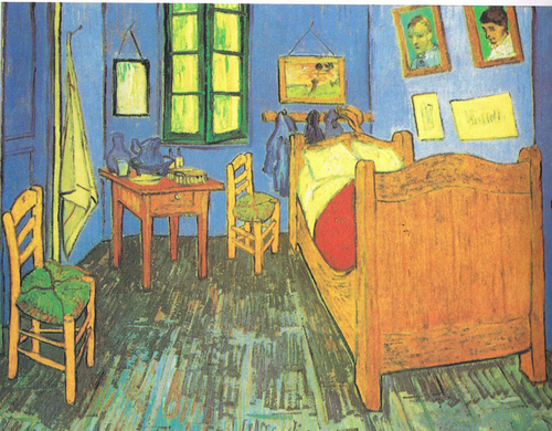 "Vincent Van Gogh, ""Bedroom at Arles"""