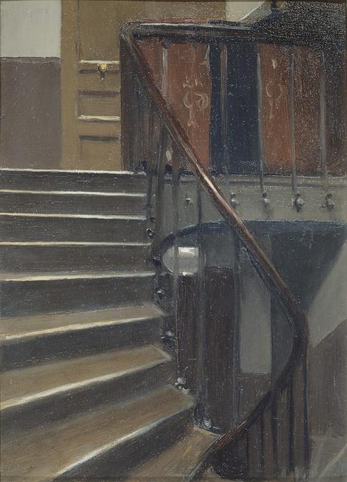 "Hopper, ""Stairway at 48 Rue de Lille"""