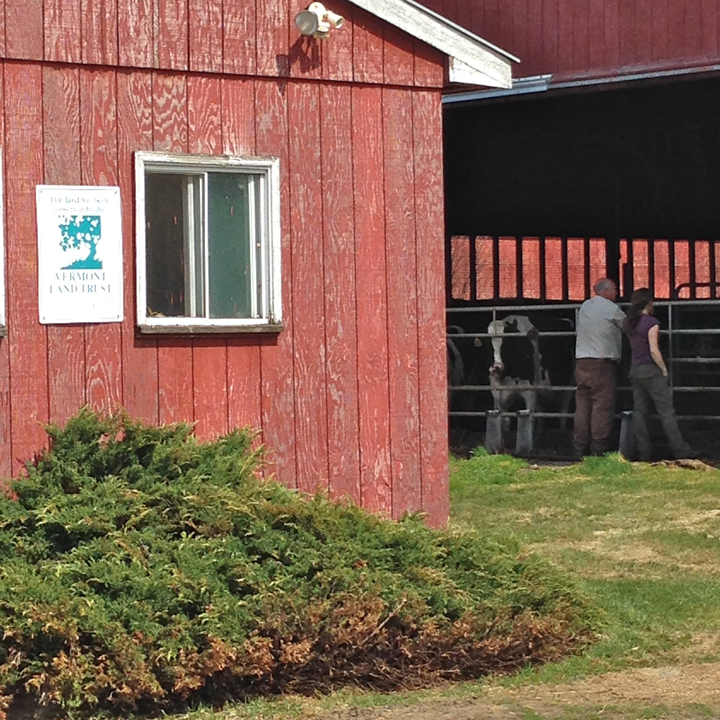 Sharon and Bruce at the dairy barn