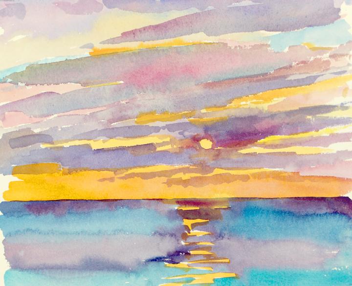 """8"""" x 10"""", watercolor"""