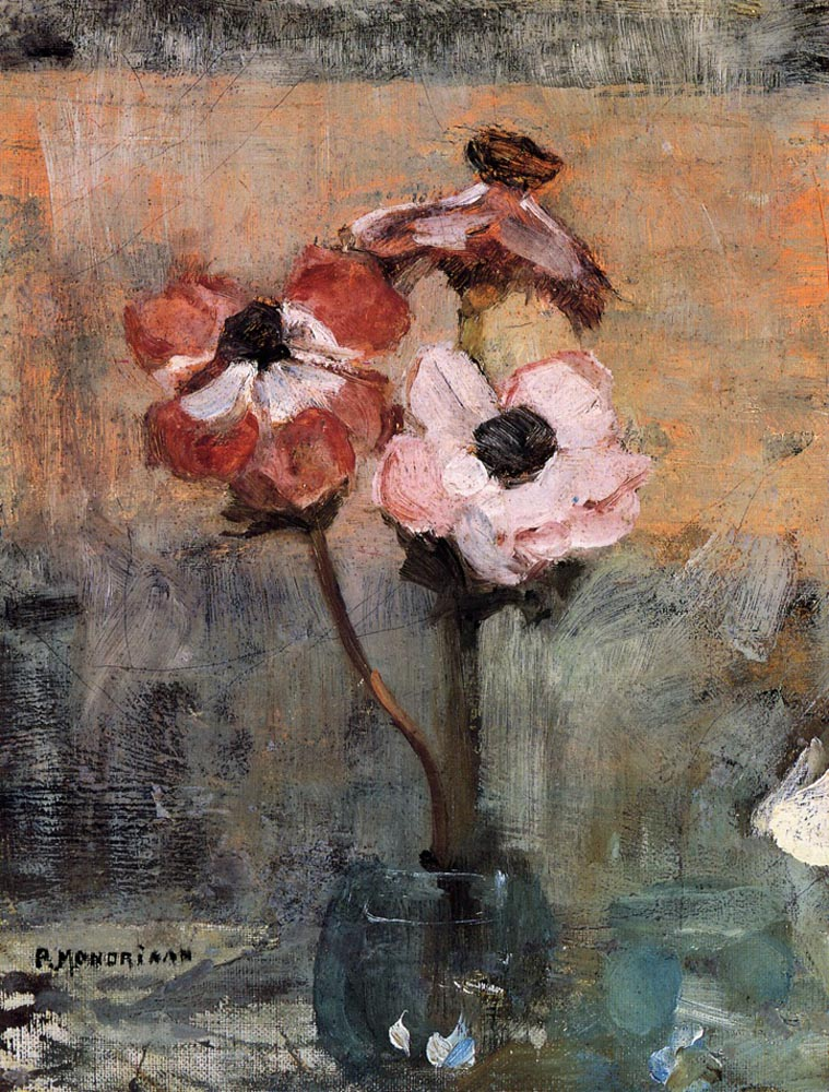 """Piet Mondrian, """"Anemones in a Vase"""""""