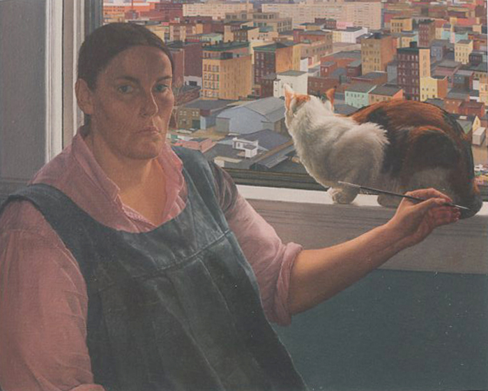 "Catherine Murphy, ""Self Portrait with Pansy"""