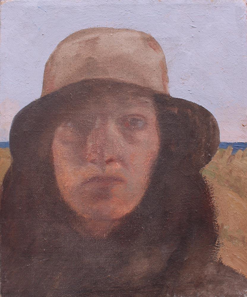 "Susan Abbott, ""Self Portrait by the Ocean"""