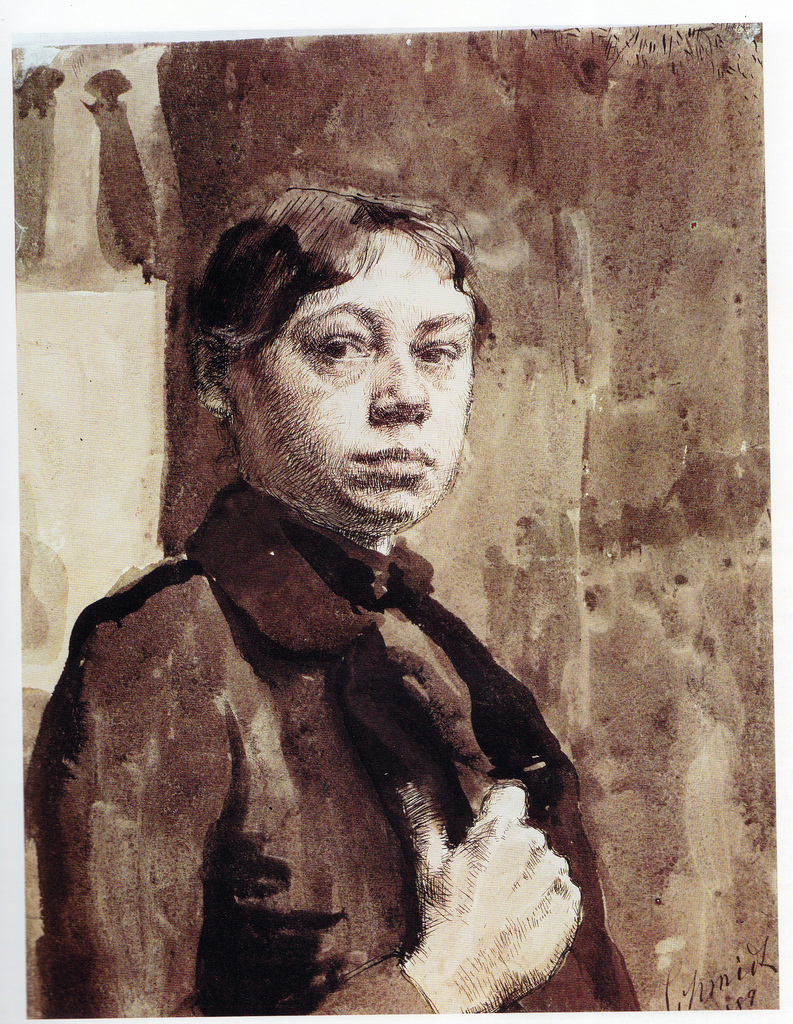 """Kathe Kollwitz, """"Self Portrait"""""""