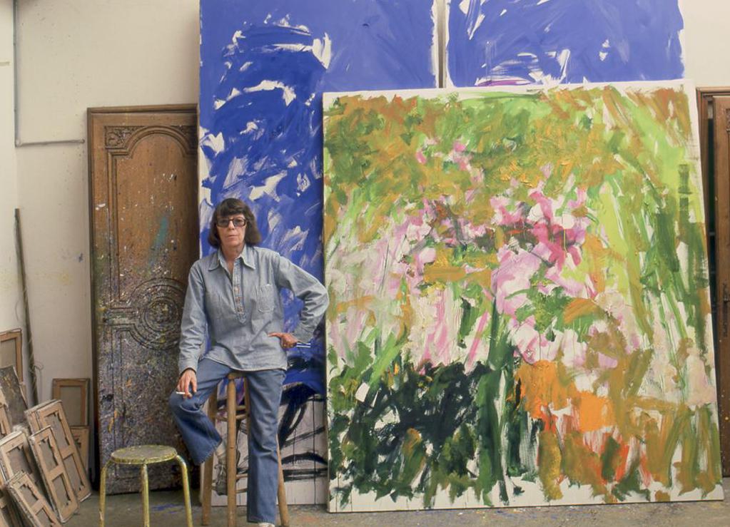 Joan Mitchell in her studio