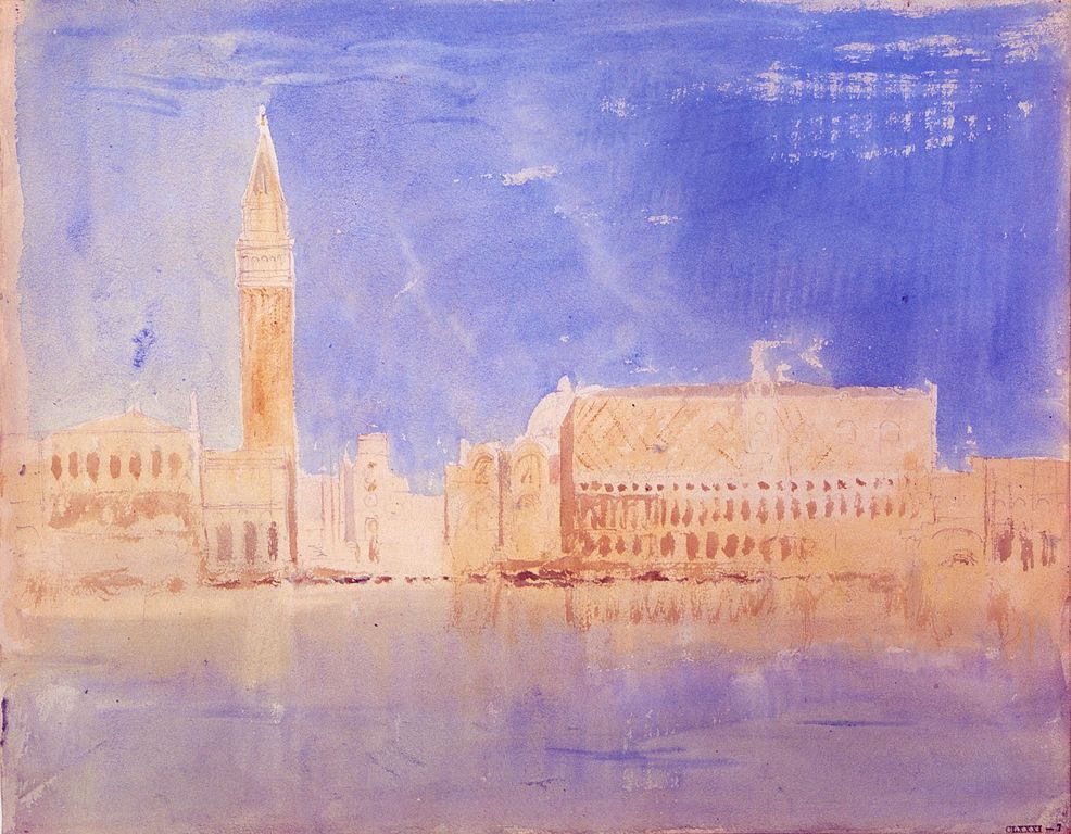 "J. M. W. Turner, ""Venice"", watercolor"