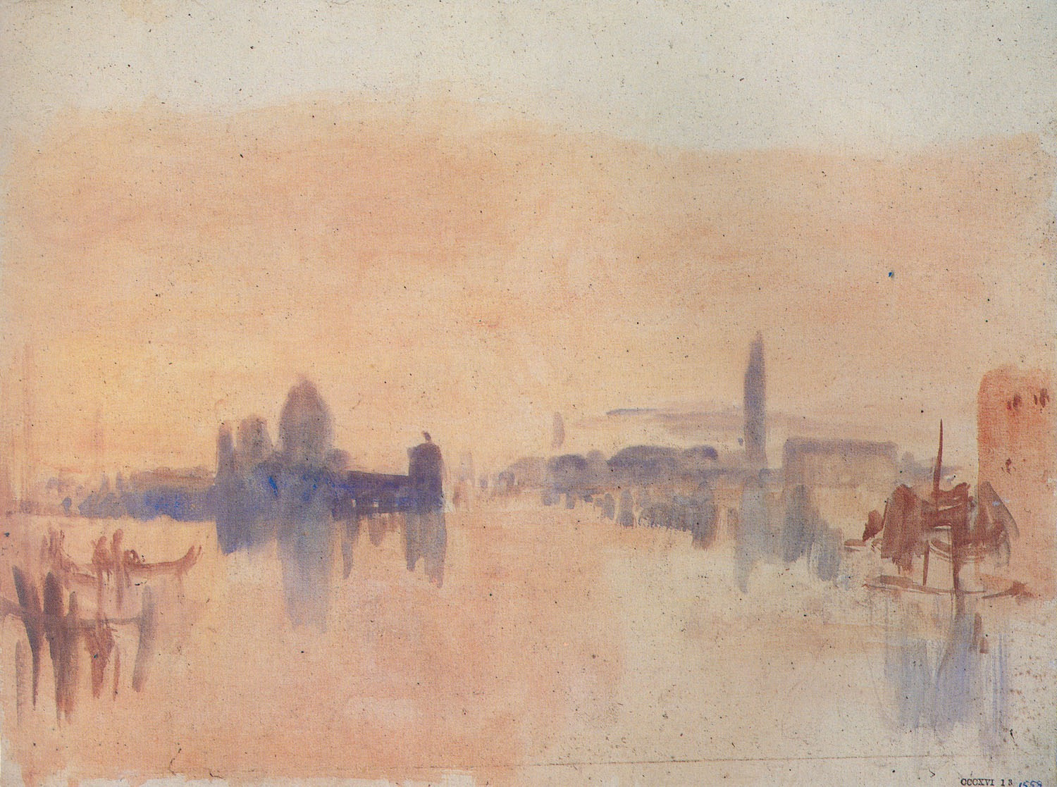 "J.M.W. Turner, ""Venice"", watercolor"