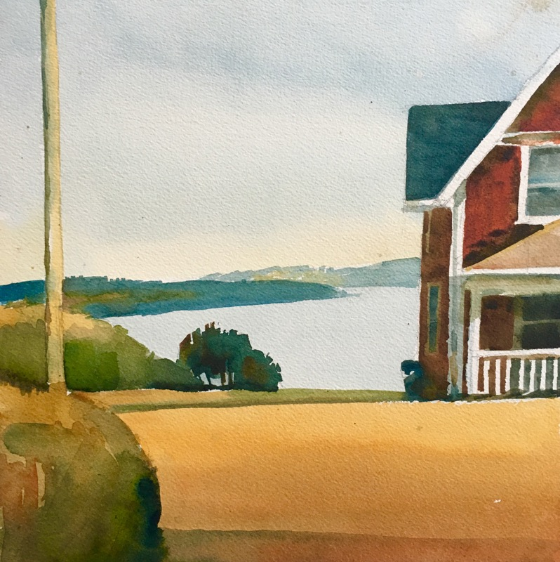 "Susan Abbott, ""House in Lubec"", watercolor"