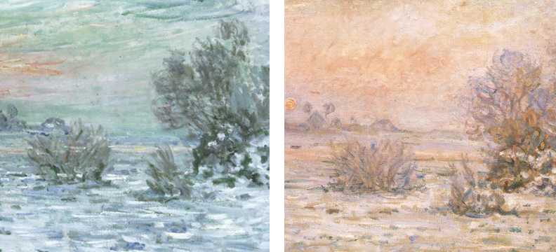 Claude Monet, temperature studies, oil
