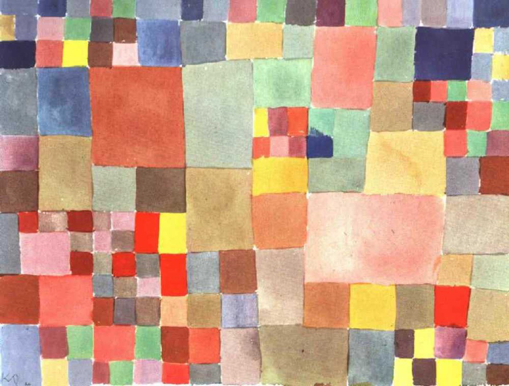 "Paul Klee, ""Flora on Sand"", watercolor"
