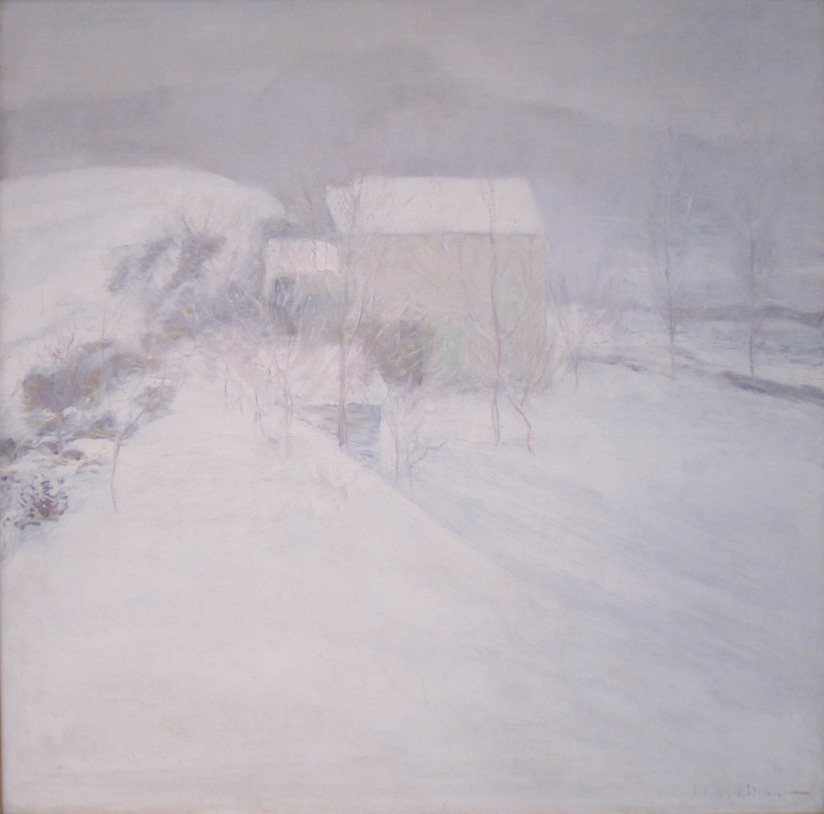 "John Henry Twachtman, ""Snow"", oil on canvas"