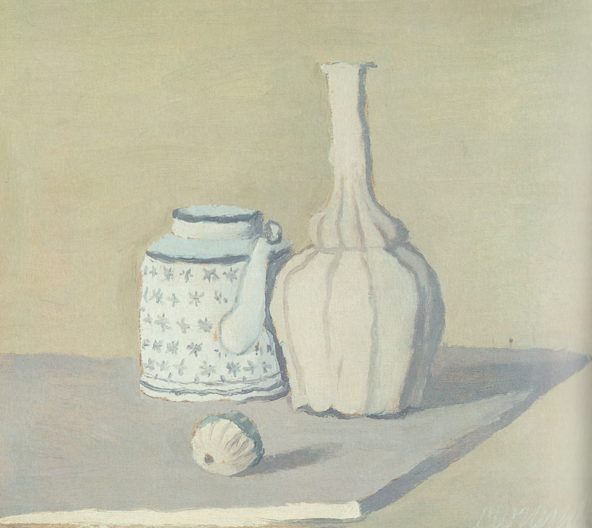 "Giorgio Morandi, ""Still Life"", oil on canvas"