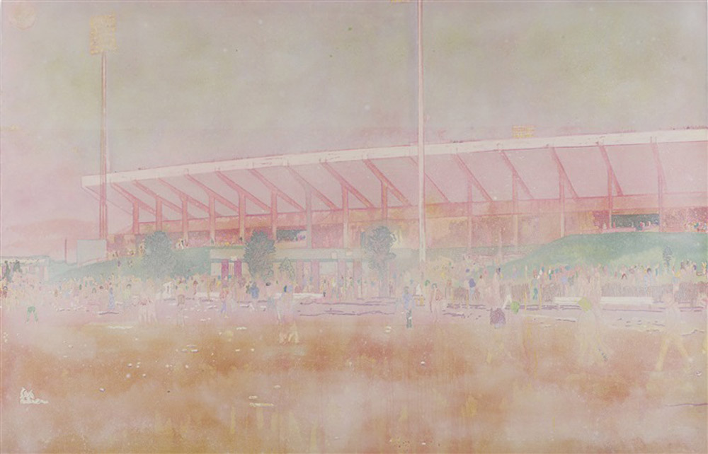 "Peter Doig, ""Buffalo Station"", oil on canvas"