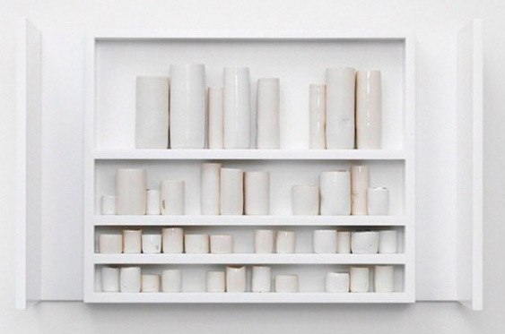 "Edmund de Waal, ""White"", porcelain and wood"