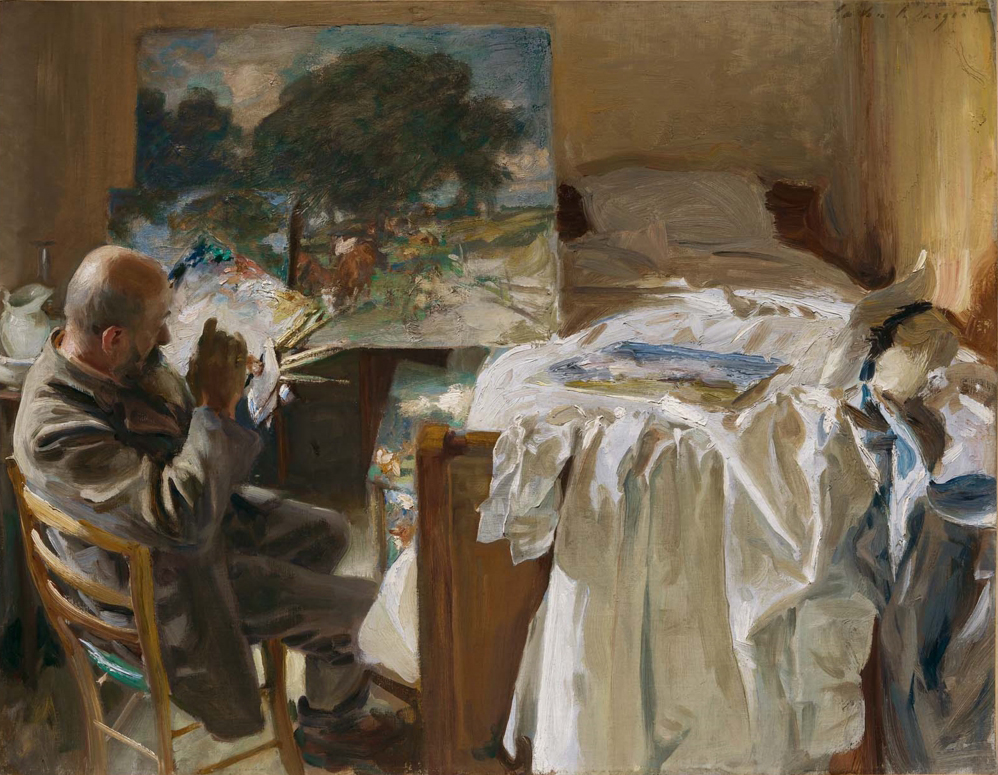 "John Singer Sargent, ""An Artist in His Studio"", oil on canvas"