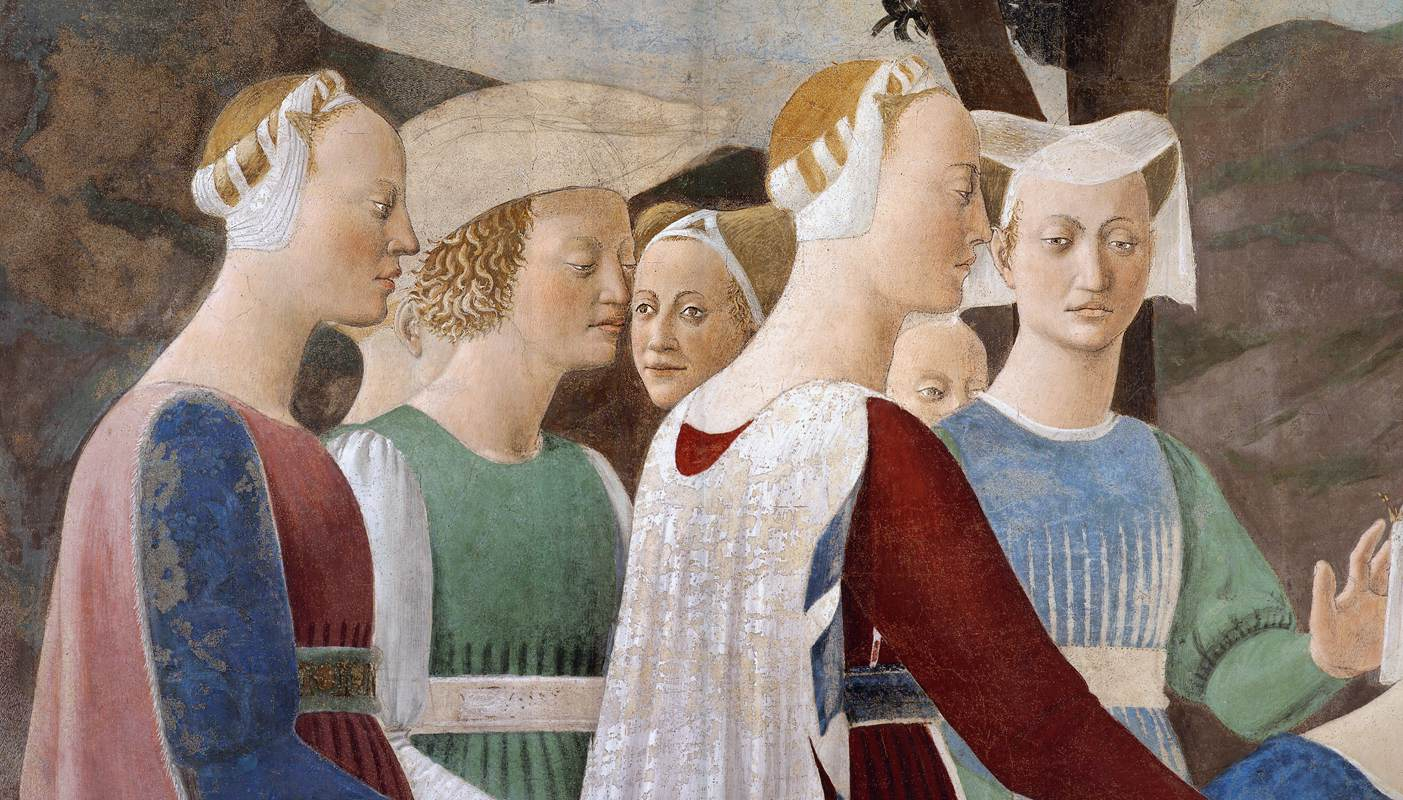 "Piero Della Francesca, ""Legend of the True Cross"" (detail), fresco"