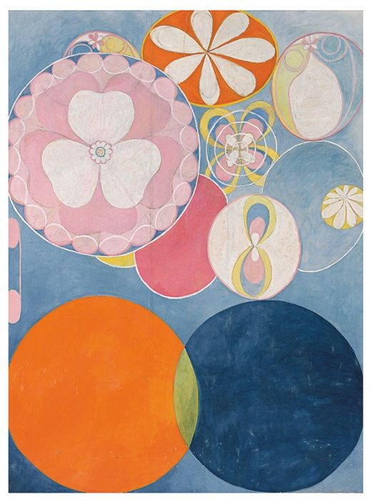 Hilma af Klint,  Group IV, The Ten Largest, No. 2, Childhood  , oil on canvas