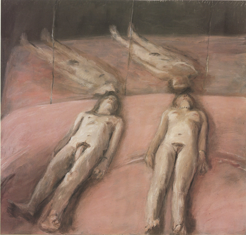 "Klaus Fussman, ""Figures and Mirrors"", oil on canvas"