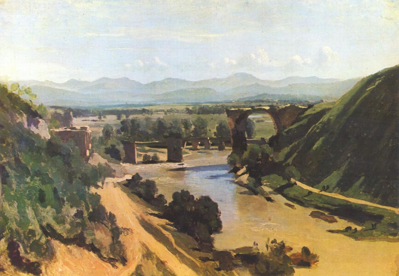 "Jean-Baptiste-Camille Corot, ""The Bridge at Narni"", oil on canvas"