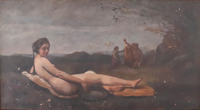 Susan Abbott, Copy of Corot's 'Repose', oil on linen